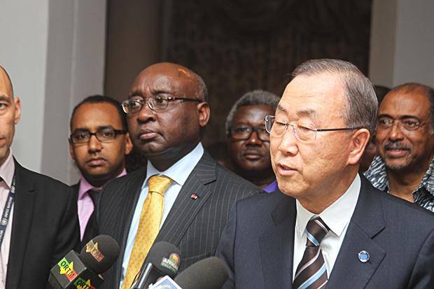 Donald Kaberuka, Président de la BAD et Bank Ki-moon Secrétaire Général des Nations Unies
