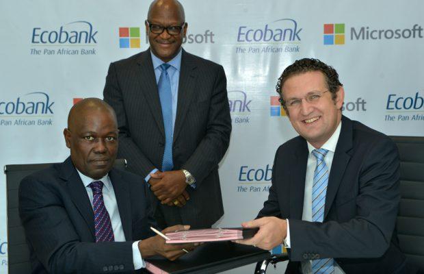 Ade Ayeyemi DG ECobankGroup_Amr Kamel General Manager Microsoft_1b