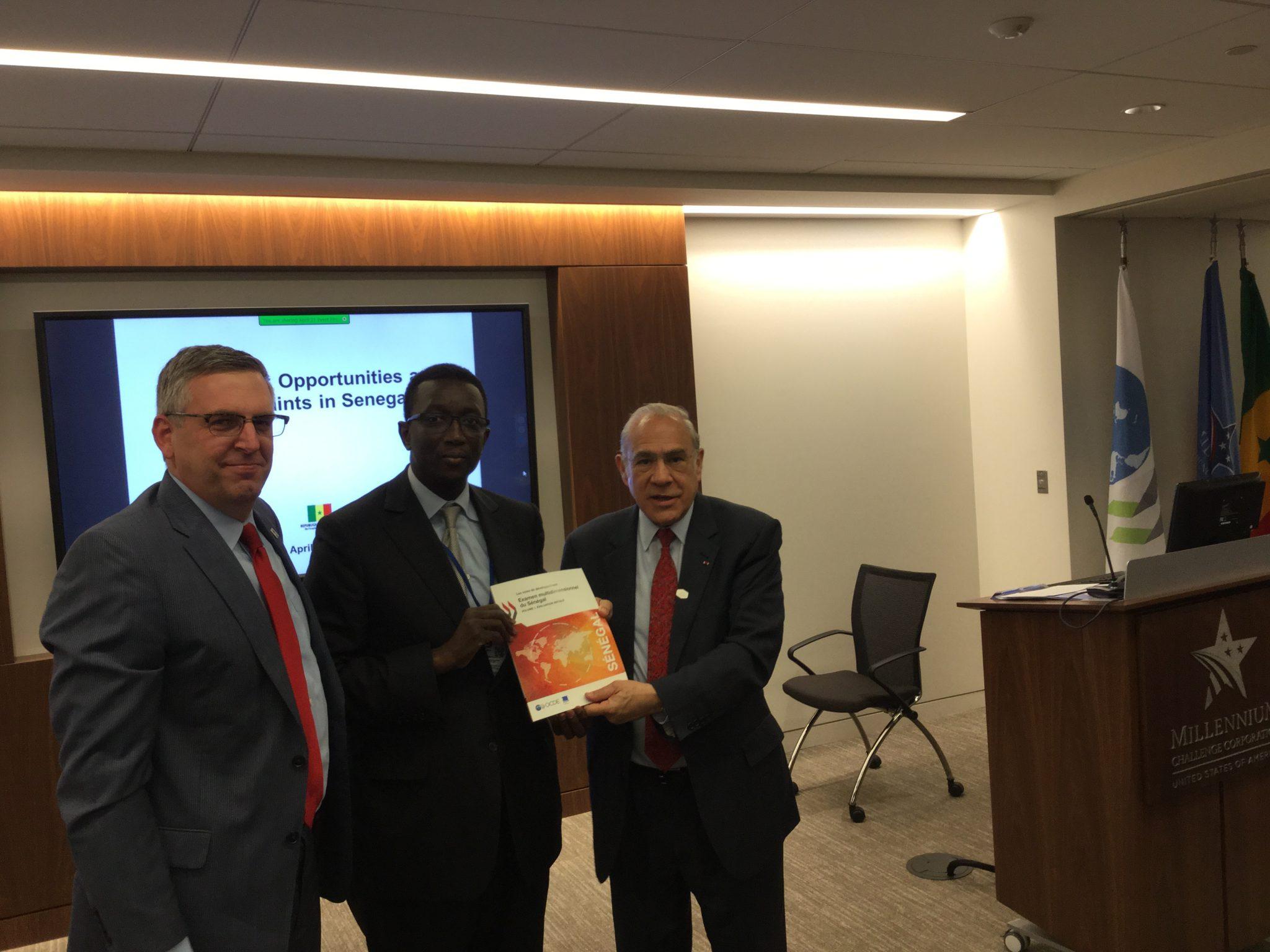 Rencontre SN MCC OCDE et investisseurs à Washington Communiqué de presse à venir